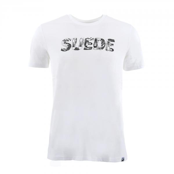 Puma T-shirt Suede Celebration Bianco