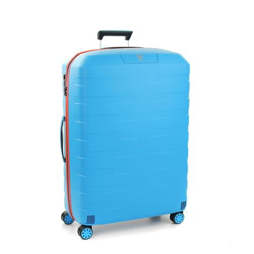 TROLLEY GRANDE TAILLE  LIGHT BLUE/ORANGE