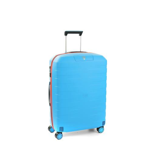 MEDIUM LUGGAGE  LIGHT BLUE/ORANGE