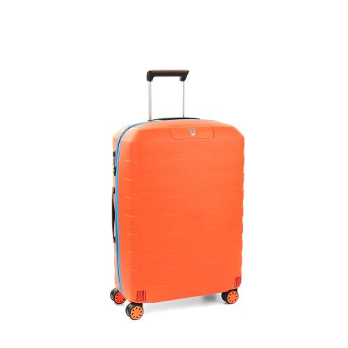 MEDIUM LUGGAGE  ORANGE/LIGHT BLUE