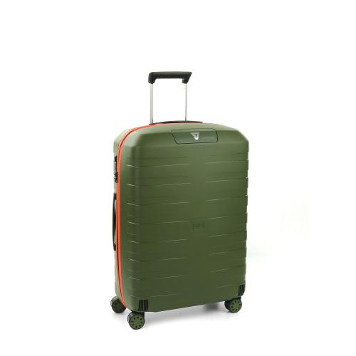 MEDIUM LUGGAGE  GREEN MILITARY/ORANGE