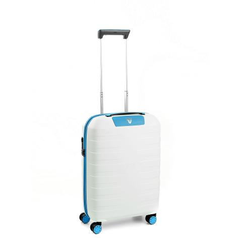 CABIN LUGGAGE  WHITE/LIGHT BLUE