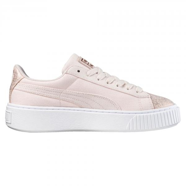 Puma Schuhe Lifestyle Basket Platform Canvas Damenmode 2018 Pearl-Rose Gold 5,5 (UK)
