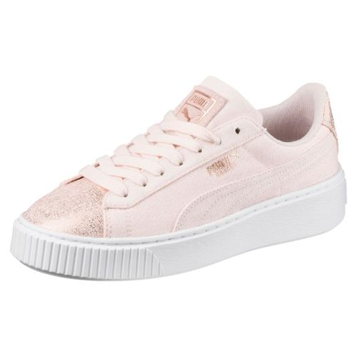 Puma Scarpe Basket Platform Canvas  Donna