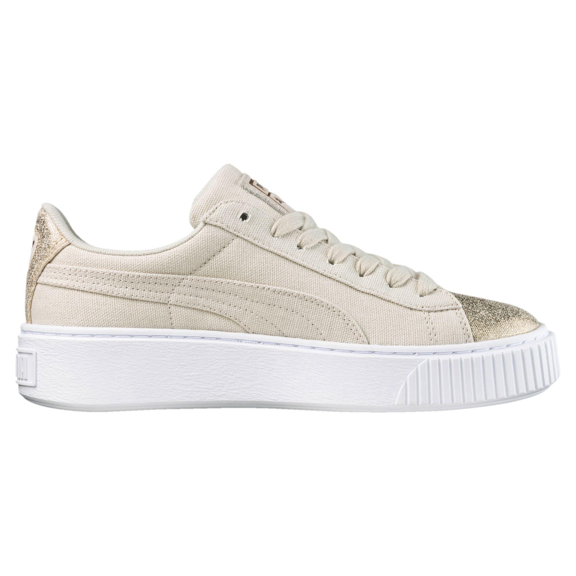 pas cher pour réduction 4e666 bf487 Puma Shoes Basket Platform Canvas Woman