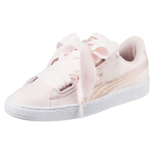 Puma Shoes Basket Heart Canvas  Woman
