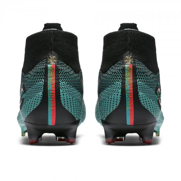 Nike Football Shoes Mercurial Superfly 360 Elite Cr7 Fg CLEAR JADE/MTLC VIVID GOLD-BLACK Tifoshop