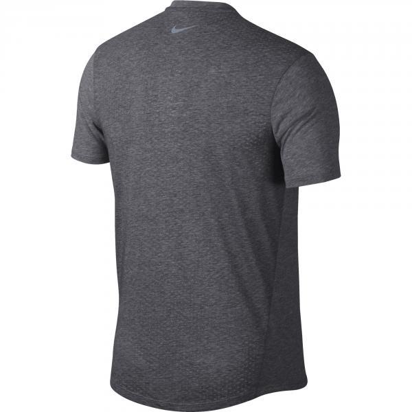 Nike T-shirt Dri-fit Rise 365 Grigio Tifoshop
