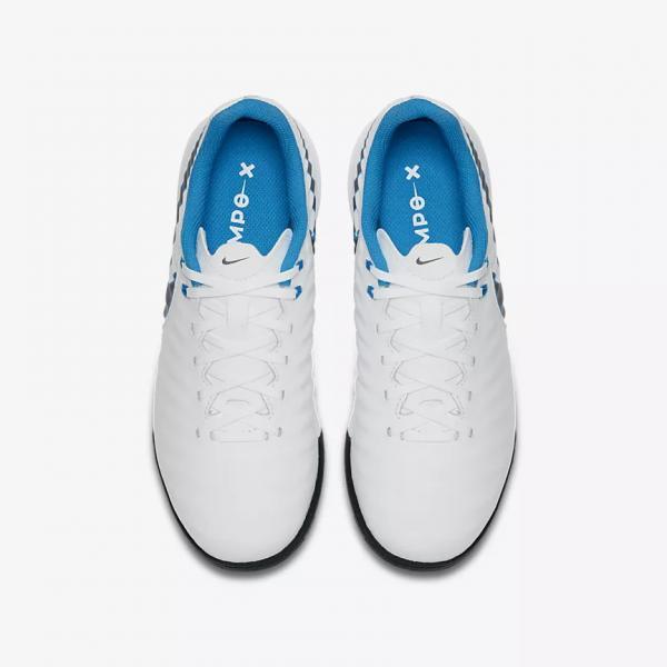 Nike Futsal-schuhe Legendx 7 Academy Tf  Juniormode WHITE/MTLC COOL GREY-BLUE HERO Tifoshop
