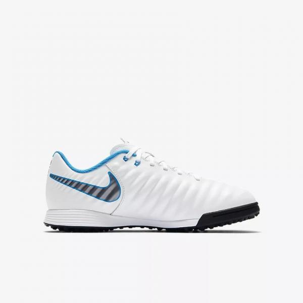 820e71c84404 Nike Futsal Shoes Legendx 7 Academy Tf Junior WHITE/MTLC COOL GREY-BLUE  HERO ...