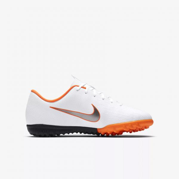 Nike Scarpe Calcetto Vaporx 12 Academy Tf  Junior Bianco