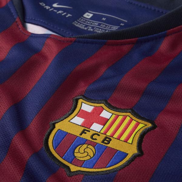 Nike Maglia Gara Home Barcellona Junior  18/19 Blu Tifoshop