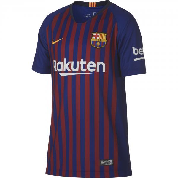 Nike Maglia Gara Home Barcellona Junior  18/19 Blu