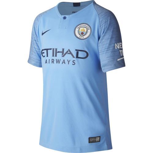 Nike Maglia Gara Home Manchester City Junior  18/19