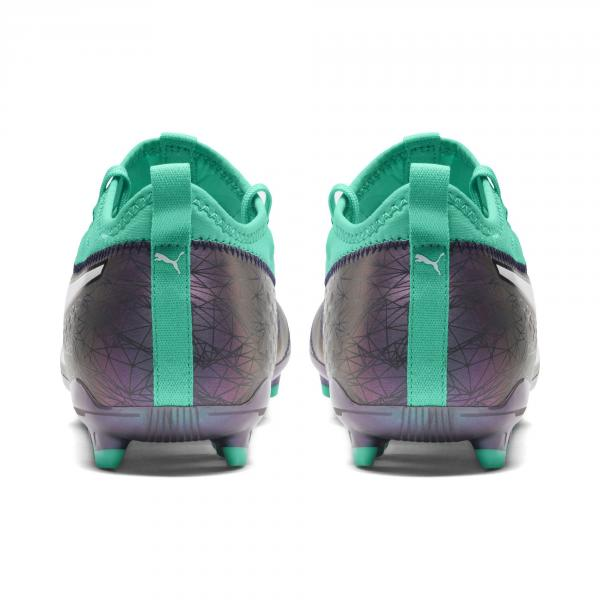 Puma Scarpe Calcio One 3 Illuminate Leather Fg Verde Tifoshop