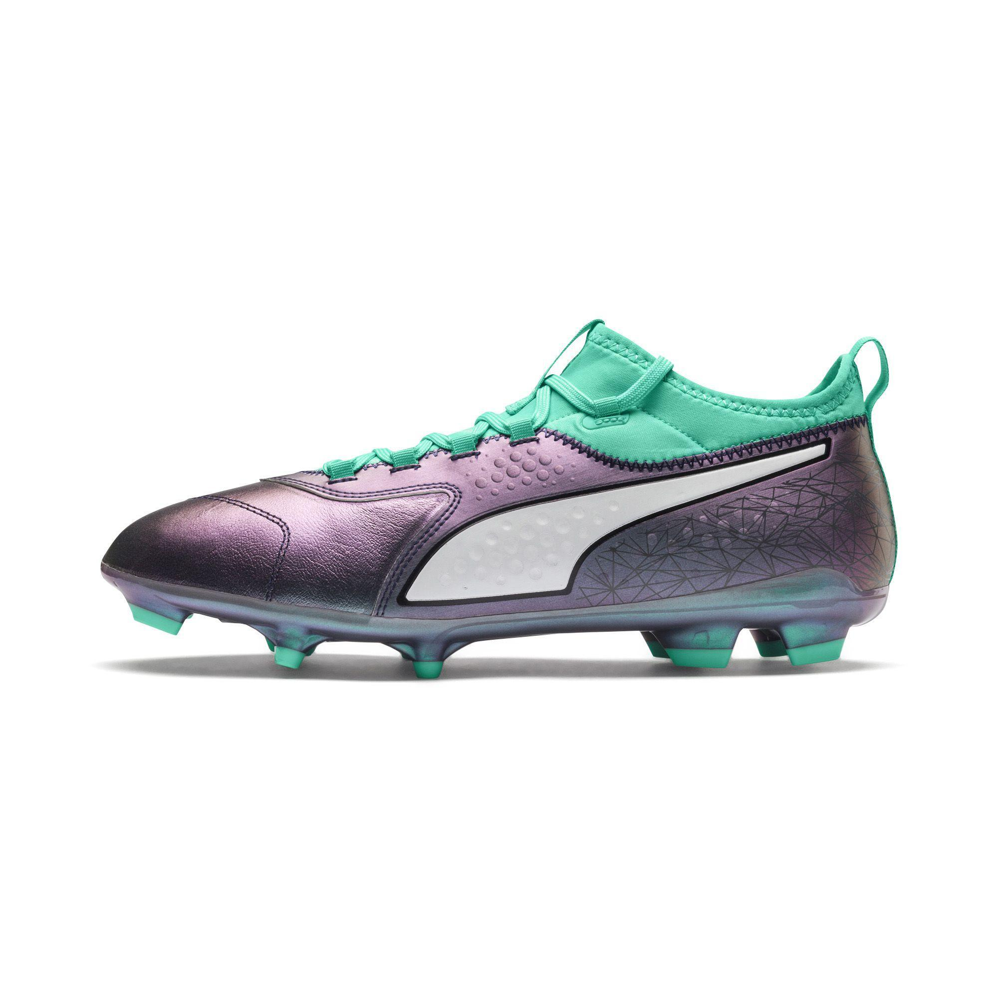 18af81170 Puma Scarpe Calcio One 3 Illuminate Leather Fg Verde - Tifoshop.com