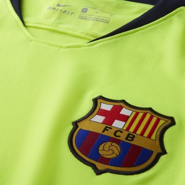 Nike Maglia Gara Away Barcellona   18/19 Giallo Tifoshop
