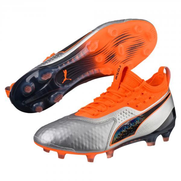 Puma Scarpe Calcio One 1 Lth Fg/ag Argento Tifoshop