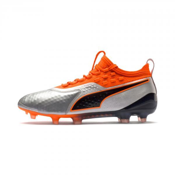 Puma Scarpe Calcio One 1 Lth Fg/ag Argento