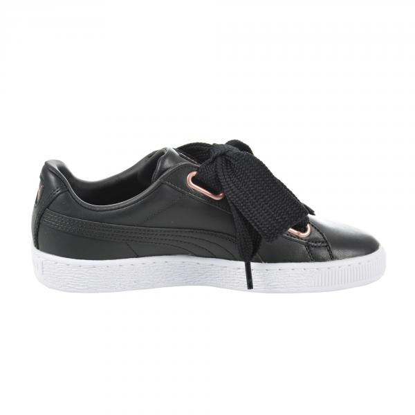 Puma Scarpe Basket Heart Leather  Donna Nero Tifoshop