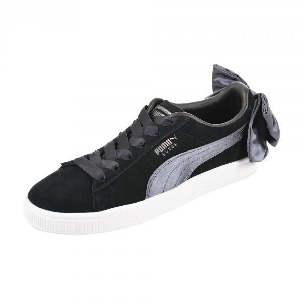 c67fd7ed6db0 Puma Shoes Suede Bow Woman Puma Black-iron Gate - Tifoshop.com