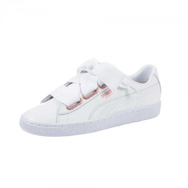 new product 92373 66b69 Puma Shoes Basket Heart Leather Woman