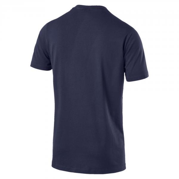 Puma T-shirt Graphic Logo Block Blu Tifoshop