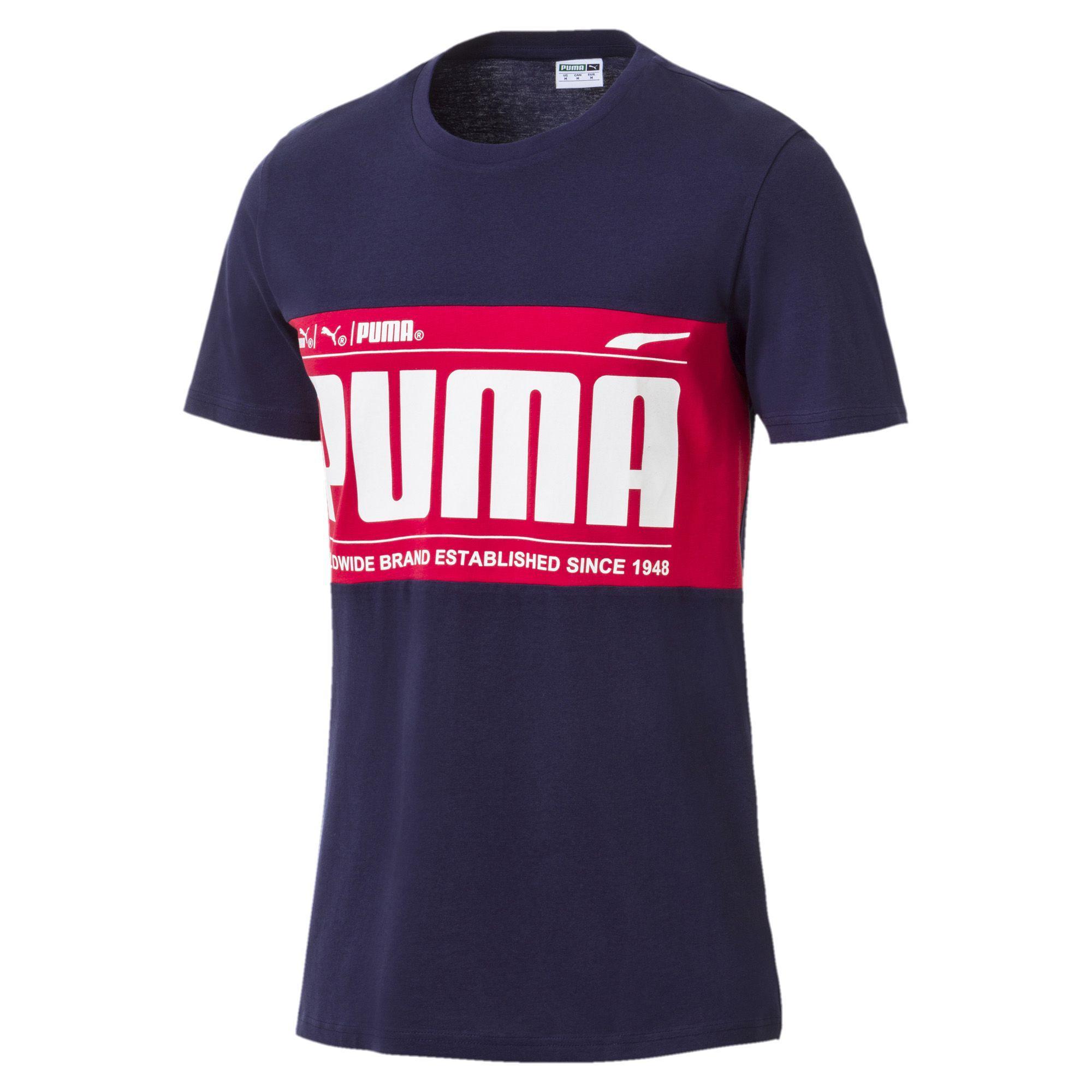 Puma T-shirt Graphic Logo Block