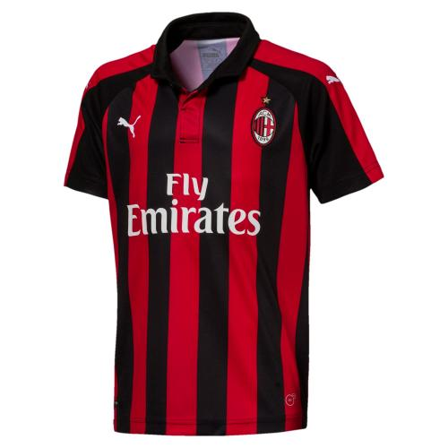 AC Milan HOME Shirt Replica SS KIDS with Sponsor Logo