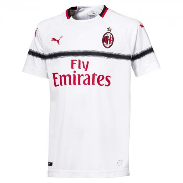 Puma Maglia Gara Away Milan Junior  18/19 Bianco