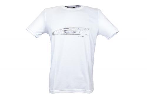 T-SHIRT H2 SPEED ORO Bianco