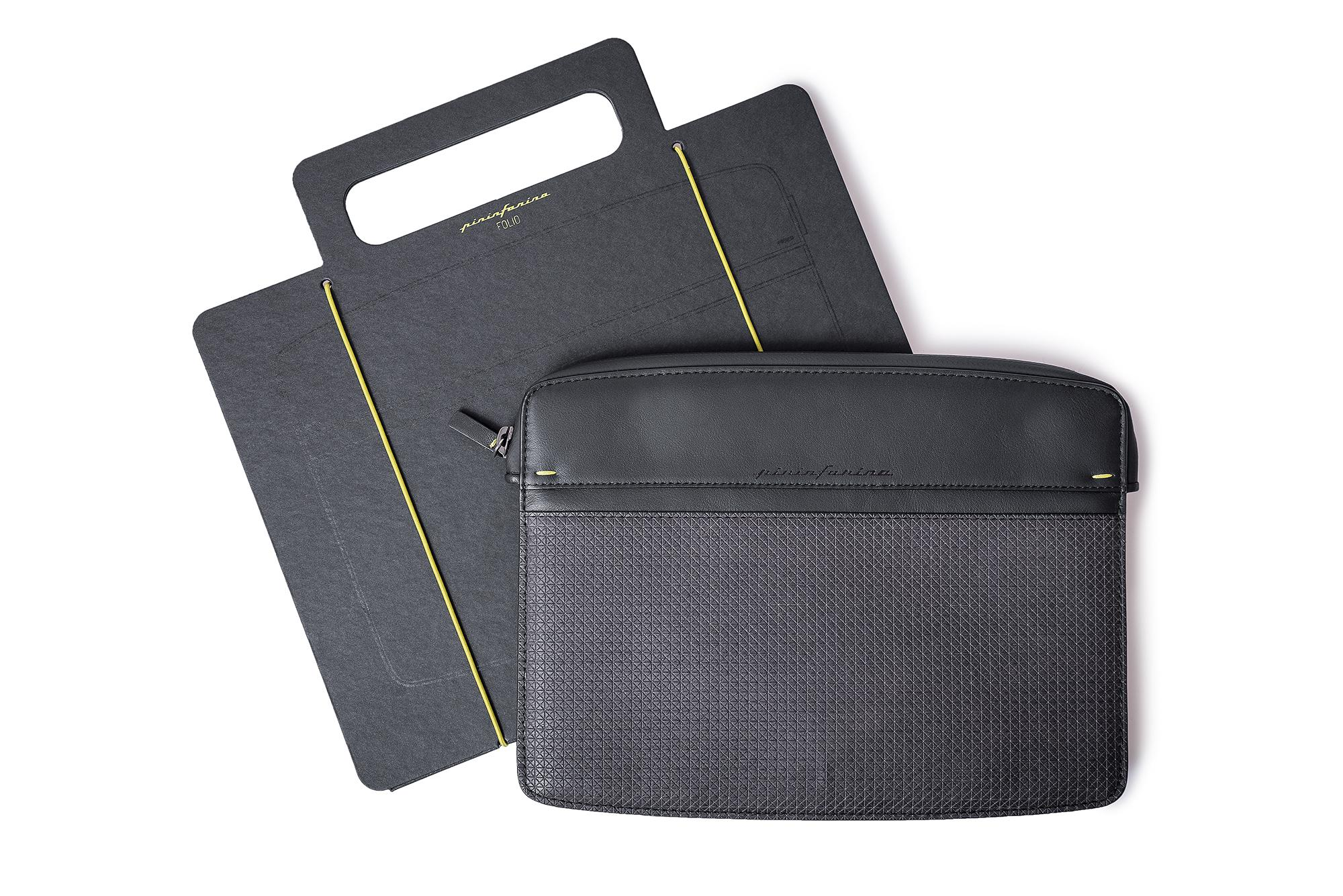 I-pad Holder Folio By Pininfarina Black