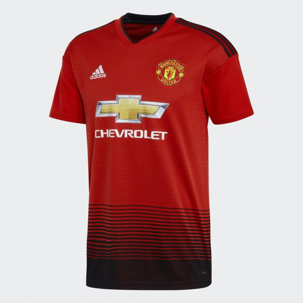 Adidas Maglia Gara Home Manchester United   18/19 Rosso Bianco