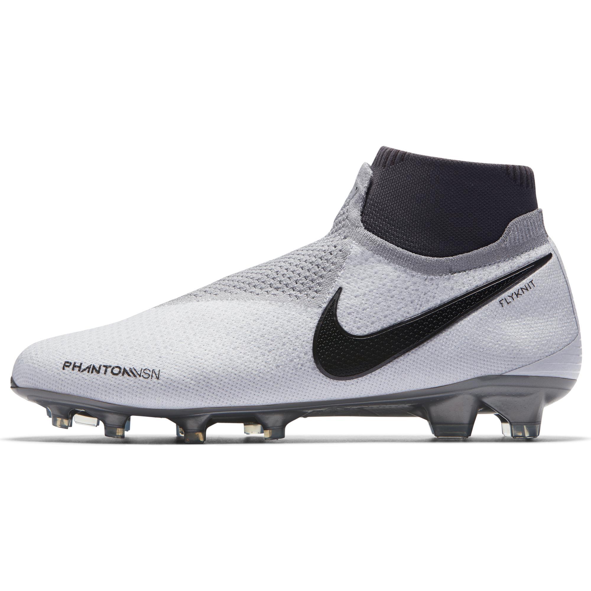 new concept 71134 5dde4 Nike Football Shoes Phantom Vsn Elite Df Fg Pure Platinum black-lt  Crimson-dark Grey - Tifoshop.com