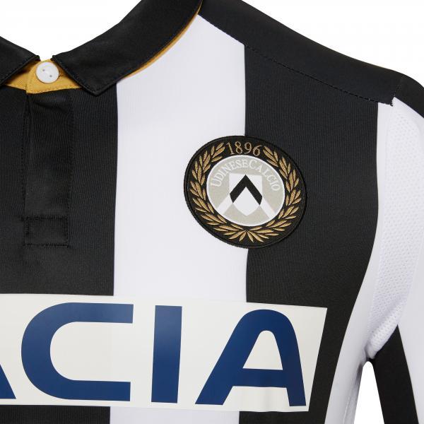 Macron Maglia Gara Home Udinese   18/19 BIANCO/NERO Tifoshop