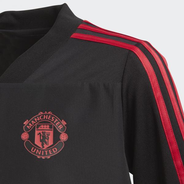 f5f0ea190 ... Adidas Sweatshirt Training Manchester United Junior Black   Blaze Red   Core  Pink Tifoshop ...