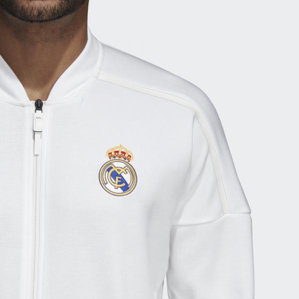 Adidas Felpa Panchina Real Madrid Bianco Tifoshop