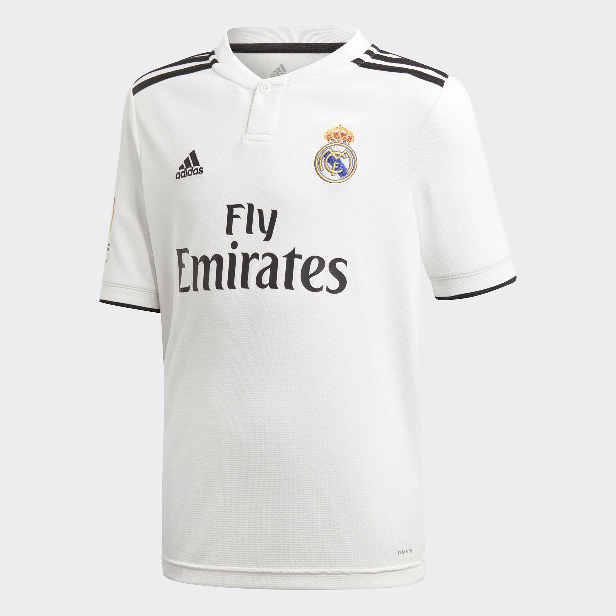 Adidas Maglia Gara Home Real Madrid Junior  18/19