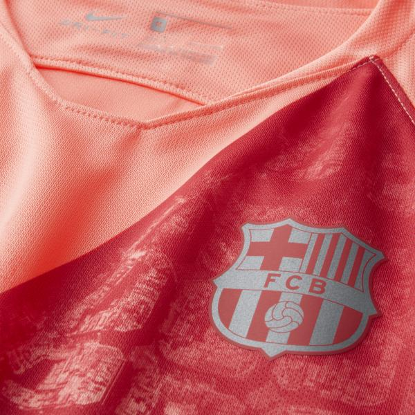 Nike Maglia Gara Terza Barcellona Junior  18/19 Rosa Tifoshop