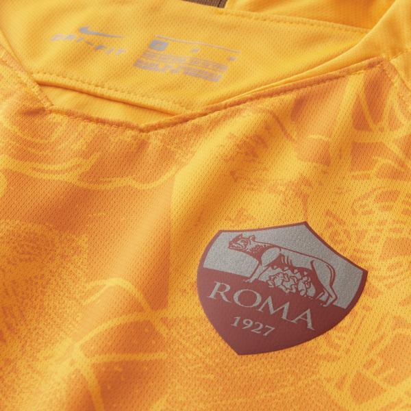 Nike Maglia Gara Terza Roma Junior  18/19 Giallo Tifoshop