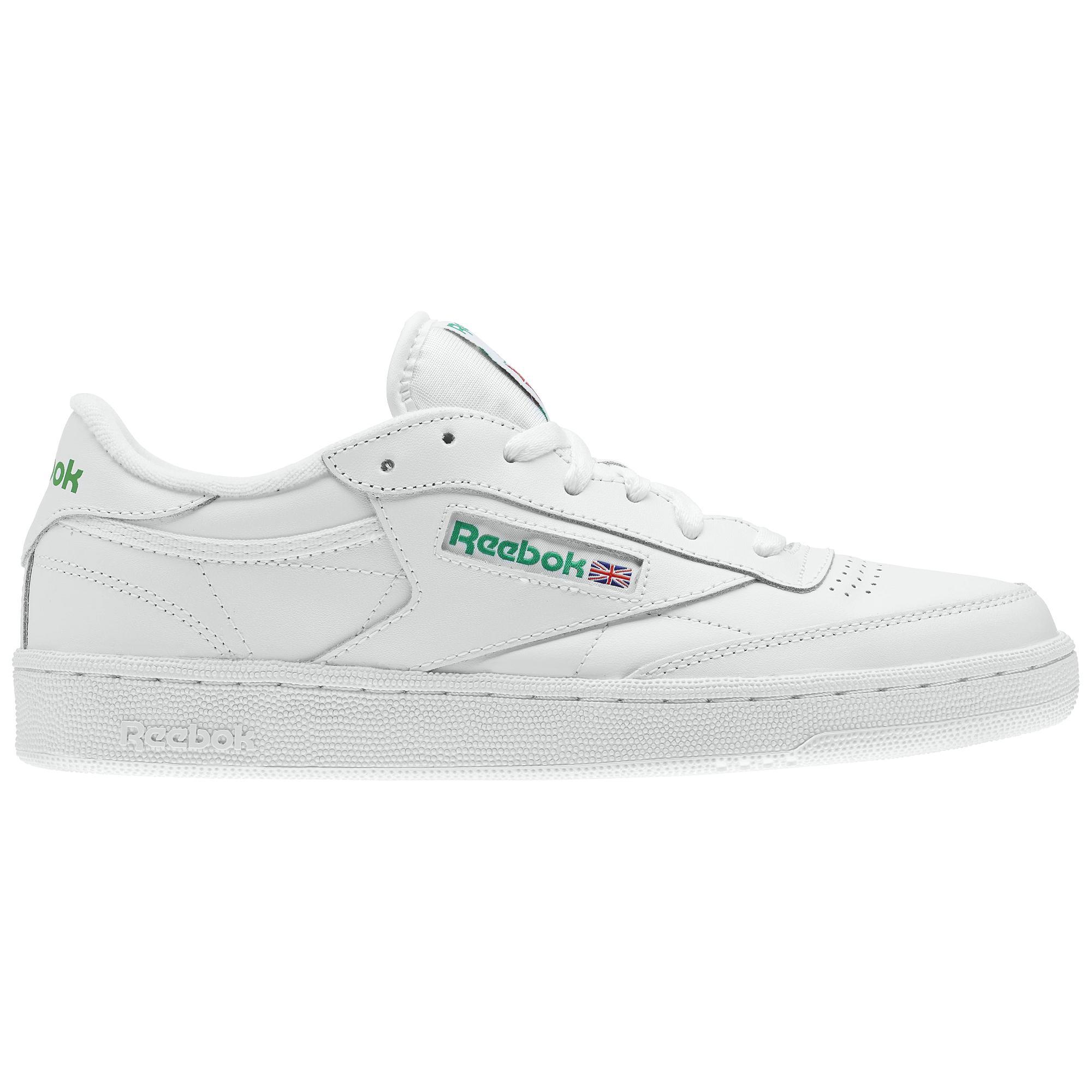 e6fab6f6d5f4e1 Reebok Shoes Club C 85 Intense White green - Tifoshop.com