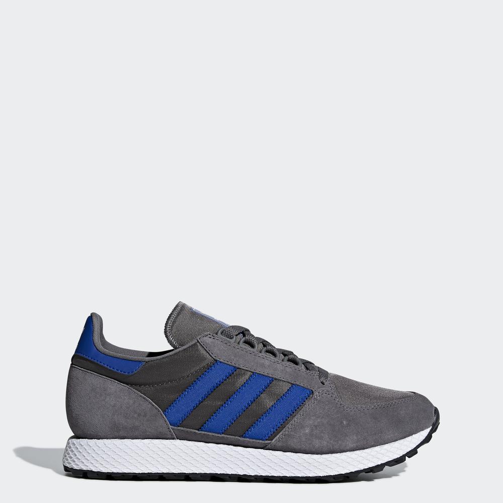 61d1b7ffbe1 Adidas Originals Shoes Forest Grove Grey Four   Collegiate Royal ...