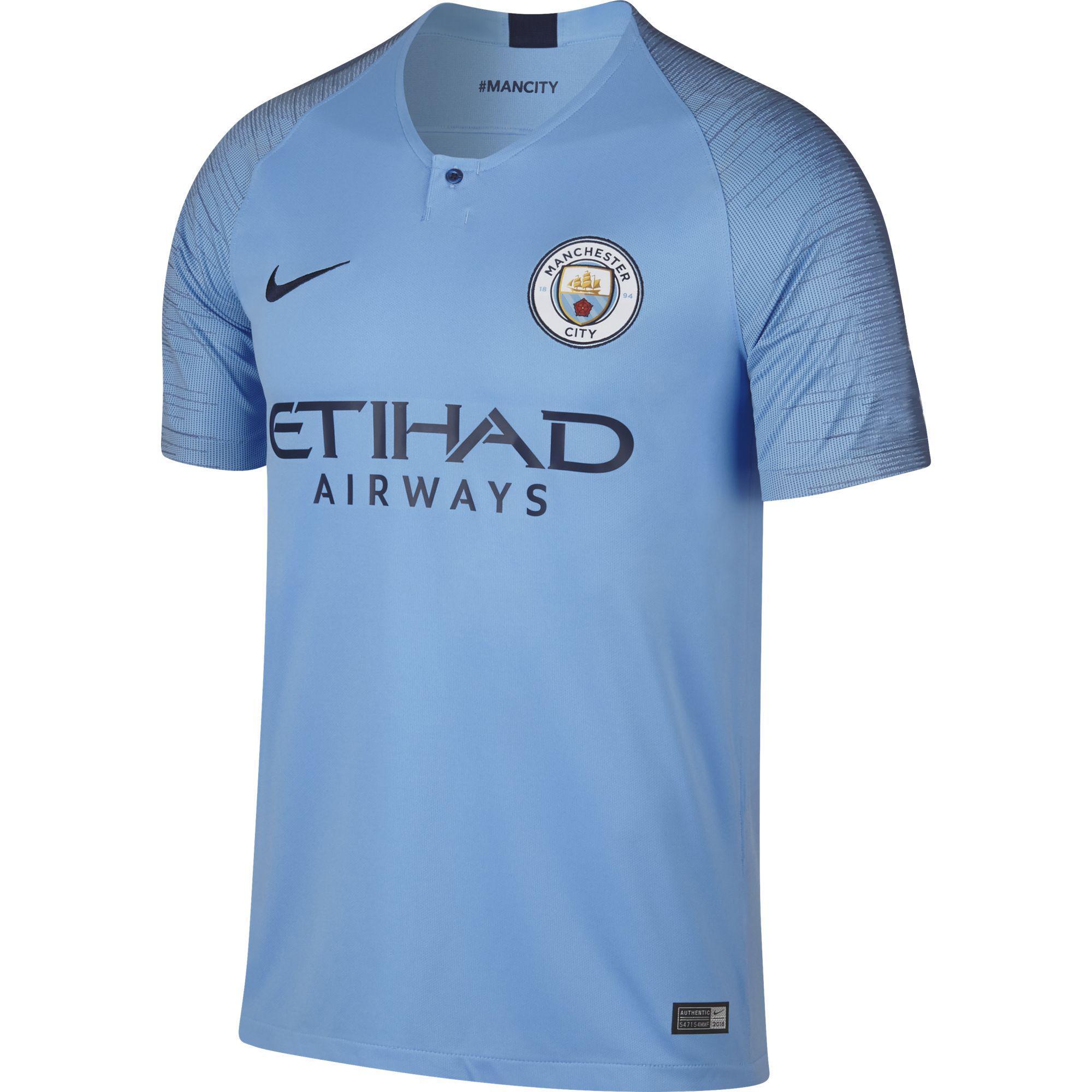 Nike Maglia Gara Home Manchester City   18/19