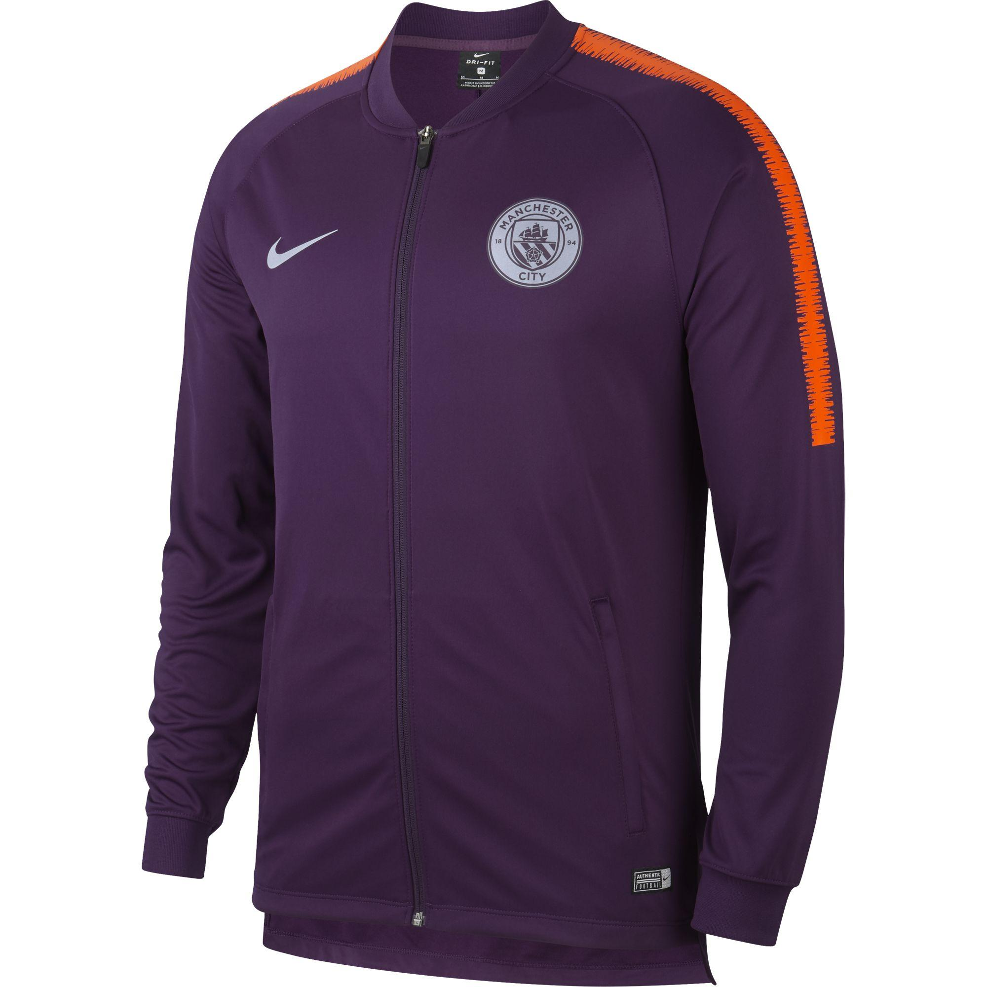 0418050de Nike Sweatshirt Manchester City 18/19 Night Purple/safety Orange ...