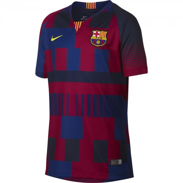 Nike Maglia Gara 20th Anniversary Barcellona Junior  18/19 Blu