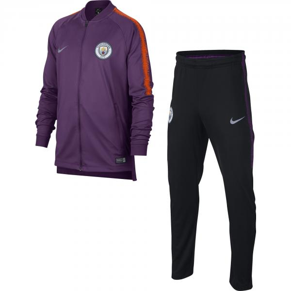 6497866c866e Nike Tracksuit Manchester City Junior 18 19 NIGHT PURPLE BLACK SAFETY  ORANGE ...