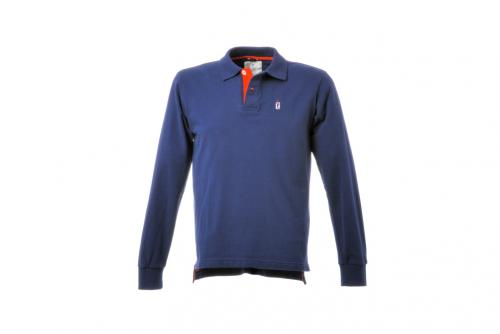 Polo Manica Lunga Anniversary Collection Blu
