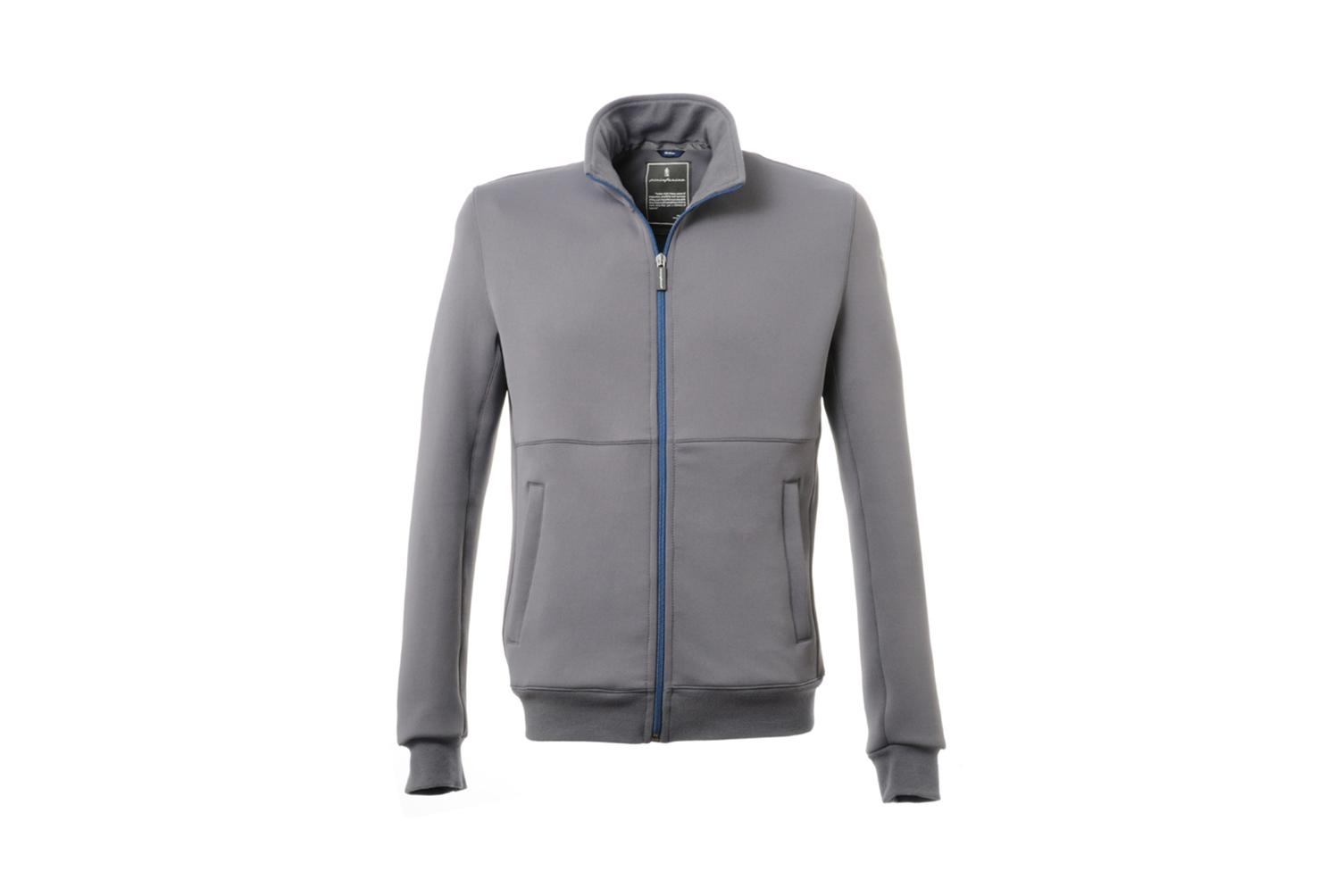 Full Zip Technical Sweatshirt Cambiano Collection Grey