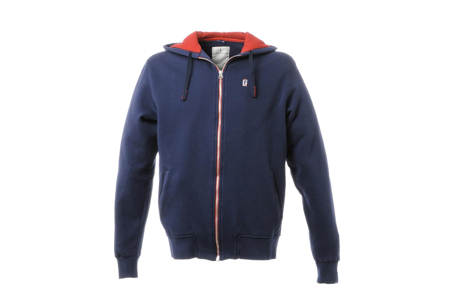 Hooded Full Zip Sweatshirt Anniversary Collection Blue