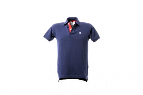 Polo Manica Corta Anniversary Collection Blu